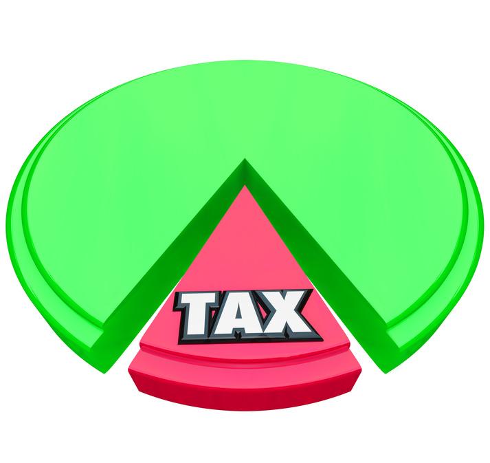 Tax Pie Chart Percentage Share Calculation Taxes Return