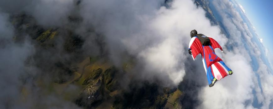 Wingsuiting in Norway